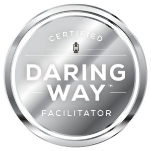 Brene Brown The Daring Way certification badge | Stephanie Evans, LMFT | Certified Daring Way Facilitator | Christian Counselor | San Diego, CA 92121